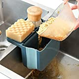 Saugnapf-Ablaufkorb, Küchen Sieb, Einziehbarer Abtropfsieb hängender Spülensiebhalter Seifenschwamm Lebensmittel, Obst, Gemüse Müll Aufbewahrung Küchenreinigungsset