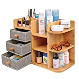Bambus Make Up Kosmetik Organizer Schublade Holz SchminkAufbewahrung Beauty Organizer Bamboo Aufbewahrungsboxfür Schminke Badezimmer Dresser Bad Schlafzimmer Schminktisch