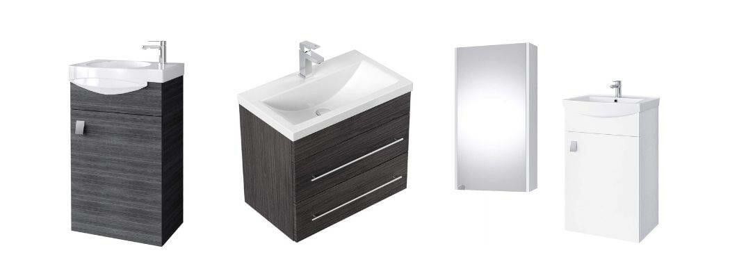 Gäste WC Waschtisch mit Unterschrank schmal